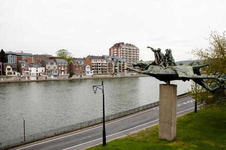 meuse: Meuse River - Namur - Belgium Stock Photo