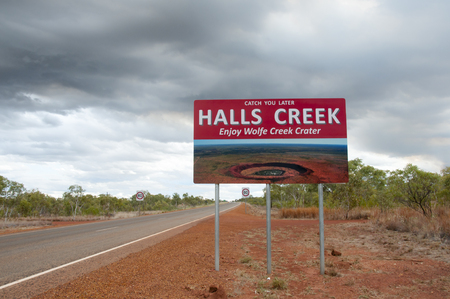 exit sign: Halls Creek Exit Sign - Australia