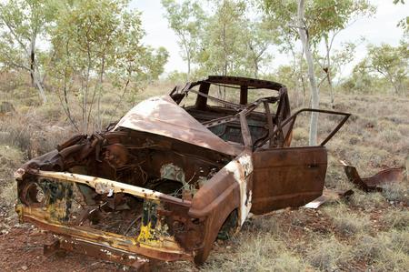 rusty car: Abandoned Rusty Car - Outback Australia