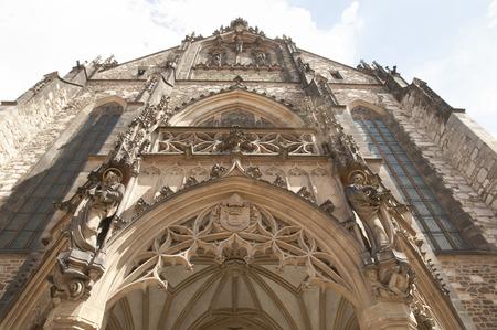 saints peter and paul: Cathedral Facade of Saints Peter & Paul - Brno - Czech Republic