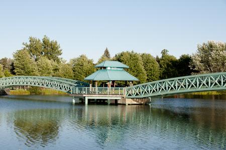 ベルナール Valcourt 橋 - エドモンストン - ニュー ブランズウィック 写真素材 - 65407439