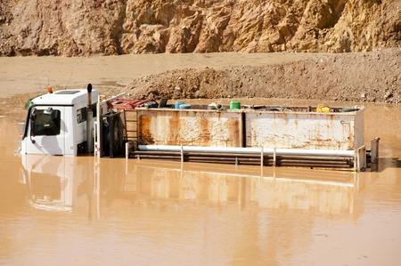 flooded: Flooded Truck