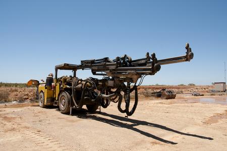 Twin Boom Drill Jumbo Stock Photo