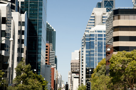 perth: St Georges Terrace Main Street - Perth - Australia Stock Photo
