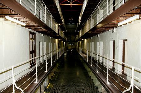 prison: Fremantle Old Prison Corridor - Australia Stock Photo
