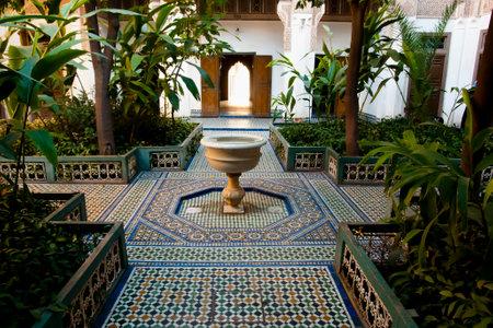 バイア宮殿 - マラケシュ - モロッコの噴水