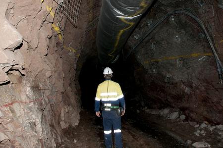 Ondergrondse Miner Stockfoto