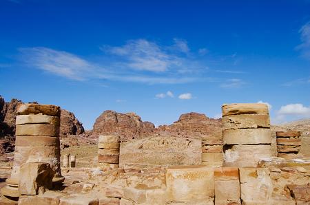 Old Pillars - Petra - Jordan