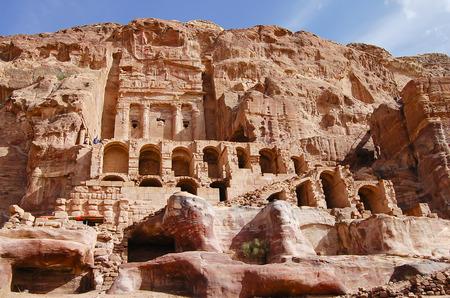 Carved Buildings in Sandstone - Petra - Jordan