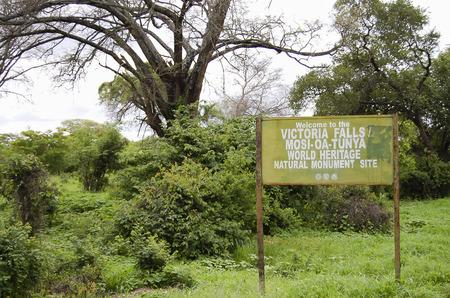 zimbabwe: Victoria Falls Bridge Plaque - Zimbabwe Foto de archivo