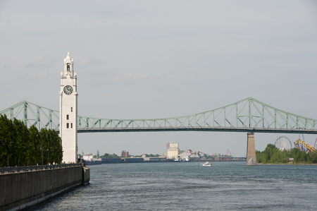 Clock Tower & St Lawrence River - Montreal - Canada