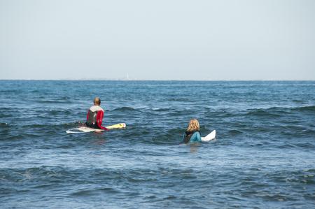 surfers: Surfers - Australia Stock Photo