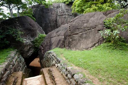 sigiriya: Sigiriya Boulder Garden - Sri Lanka Stock Photo