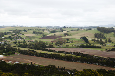 Fertile Agricultural Lands - Northwestern Tasmania Stock Photo