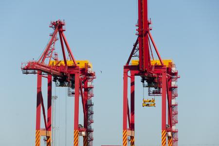 Shipping Container Cranes - Fremantle - Australia Stock Photo