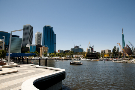 perth: Elizabeth Quay - Perth - Australia Stock Photo