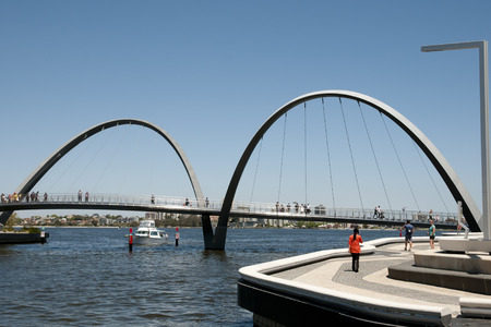 Elizabeth Quay Bridge - Perth - Australia Stock Photo