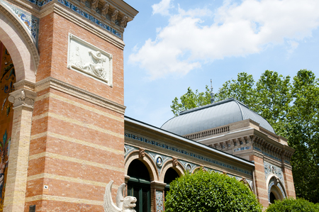 velazquez: Velazquez Building in Retiro Park - Madrid - Spain