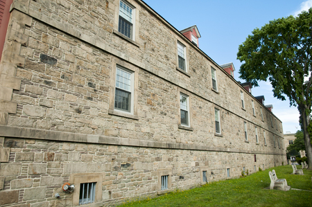 nb: Soldiers Barracks in Historic Garrison District - Fredericton - Canada Stock Photo