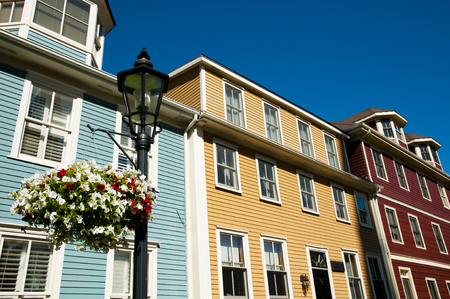 princes street: Colorful Buildings on Great George St - Charlottetown - Canada