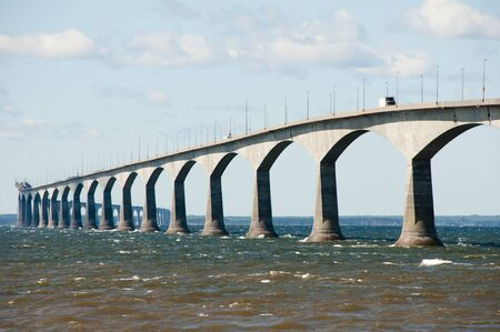 confederation: Confederation Bridge - Canada Stock Photo