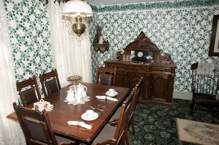 house gables: CAVENDISH, CANADA - August 9, 2016: Inside quarters in Anne of Green Gables House on Prince Edward Island