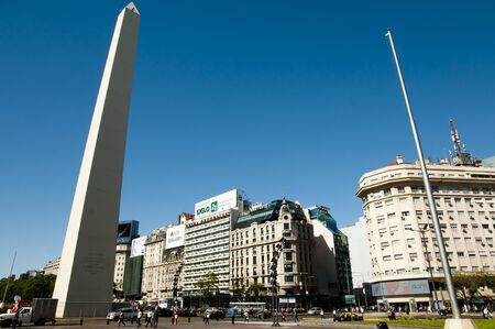 obelisco: BUENOS AIRES, ARGENTINA - December 15, 2016: The Obelisk is the icon of Buenos Aires in the Plaza de la Republica built in 1936