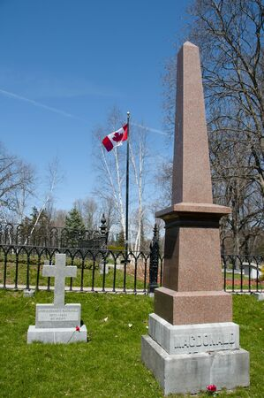 macdonald: First Prime Minister Sir John A. Macdonald Grave in Cataraqui Cemetary in Canada