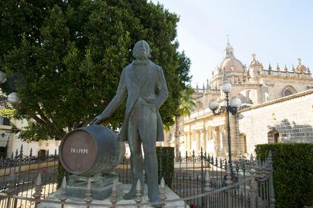 jerez de la frontera: Tio Pepe Statue - Jerez de la Frontera - Spain Stock Photo
