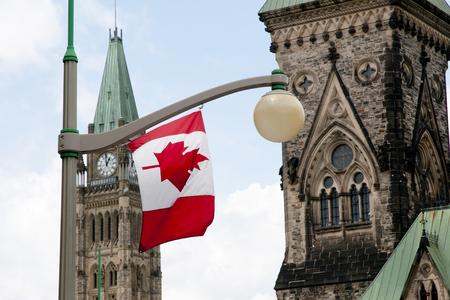 パーラメント ハウス - オタワ - カナダのカナダの旗