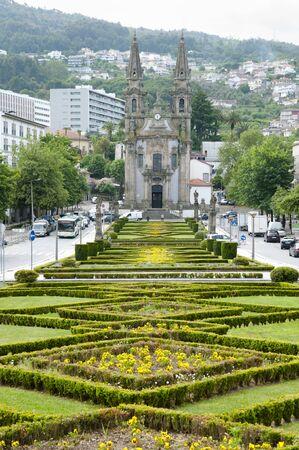 guimaraes: Garden of Largo Republica do Brasil - Guimaraes - Portugal