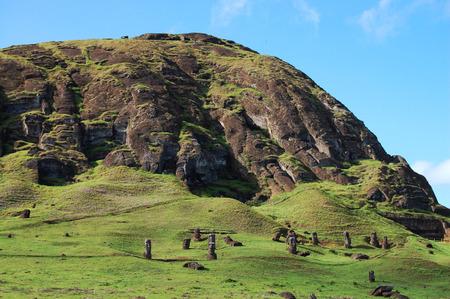 rano raraku: Rano Raraku - Easter Island Stock Photo