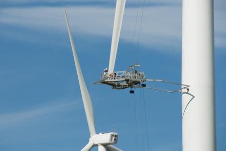 Wind Turbine Klinge Reparatur Standard-Bild