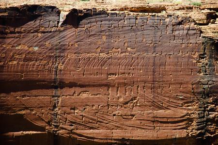 kings canyon national park: Erosional Wall in Kings Canyon - Northern Territory - Australia