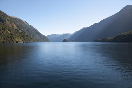 secluded: Doubtful Sound - New Zealand Stock Photo