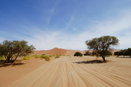 vlei: Sand Dunes - Sossusvlei - Namibia Stock Photo