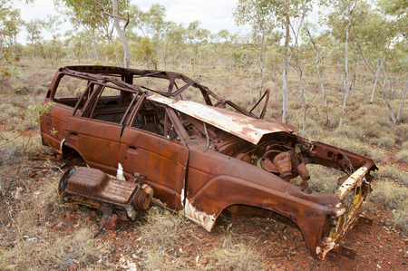 outback australia: Abandoned Rusty Car - Outback Australia