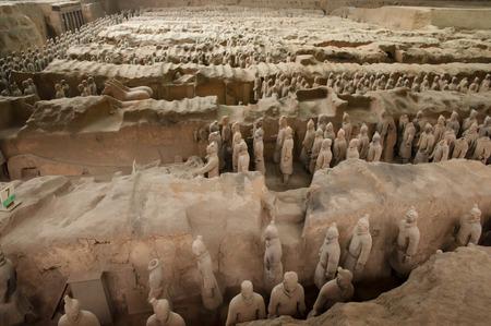 Terracotta Warriors - Xian - Chine Banque d'images