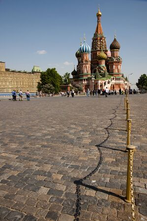red square moscow: Cobble Path in Saint Basils Cathedral - Red Square - Moscow Stock Photo