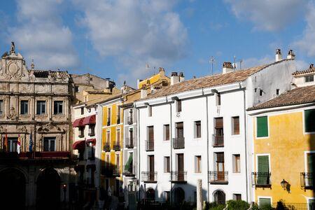 cuenca: Colorful Buildings in Main Square - Cuenca - Spain