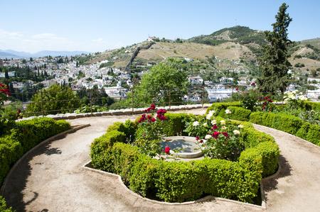 palacio: Generalife Garden in the Alhambra - Granada - Spain