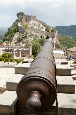 Castle of Xativa Cannon - Spain Stock Photo