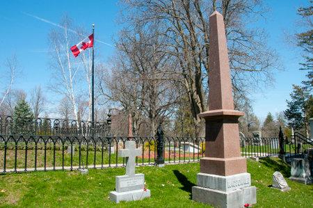macdonald: First Prime Minister Sir John A. Macdonald Grave in Cataraqui Cemetary - Kingston - Canada