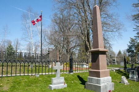 First Prime Minister Sir John A. Macdonald Grave in Cataraqui Cemetary - Kingston - Canada