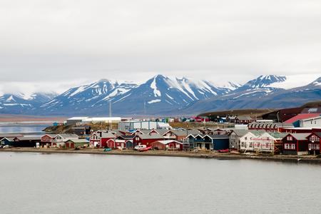 ロングヤービーエンのスヴァールバル諸島 - ノルウェー 写真素材