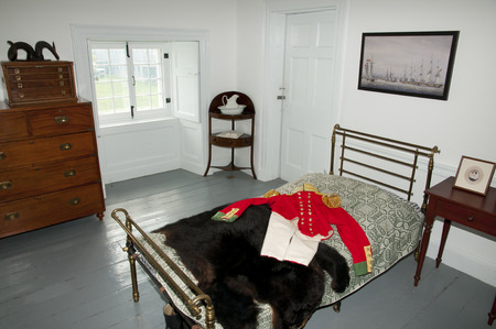 noix: ILE-AUX-NOIX, CANADA - August 2, 2016: Inside Fort Lennox built in the 1830s displaying a guardhouse, officers quarters, barracks and casemates Editorial