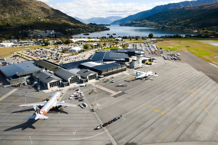 QUEENSTOWN, NEW ZEALAND - March 28, 2011: ZQN Airport is located in Otago and serves the resort town of Queenstown Editorial