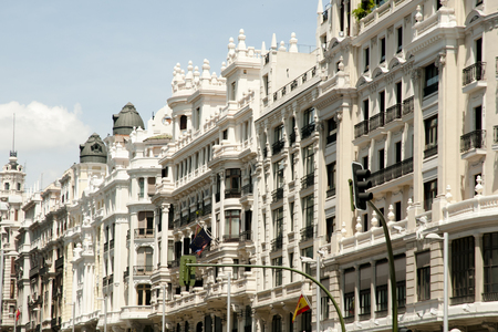 Madrid Architecture on Buildings Facade - Spain