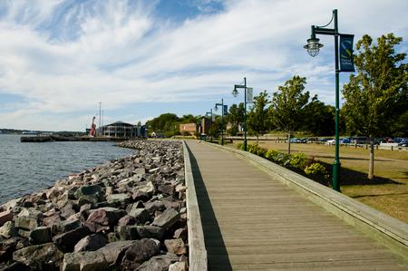 シドニー ウォーター フロント ポート - ノバスコシア州 - カナダ 写真素材