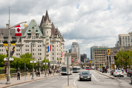 Wellington Street - Ottawa - Canada Editorial